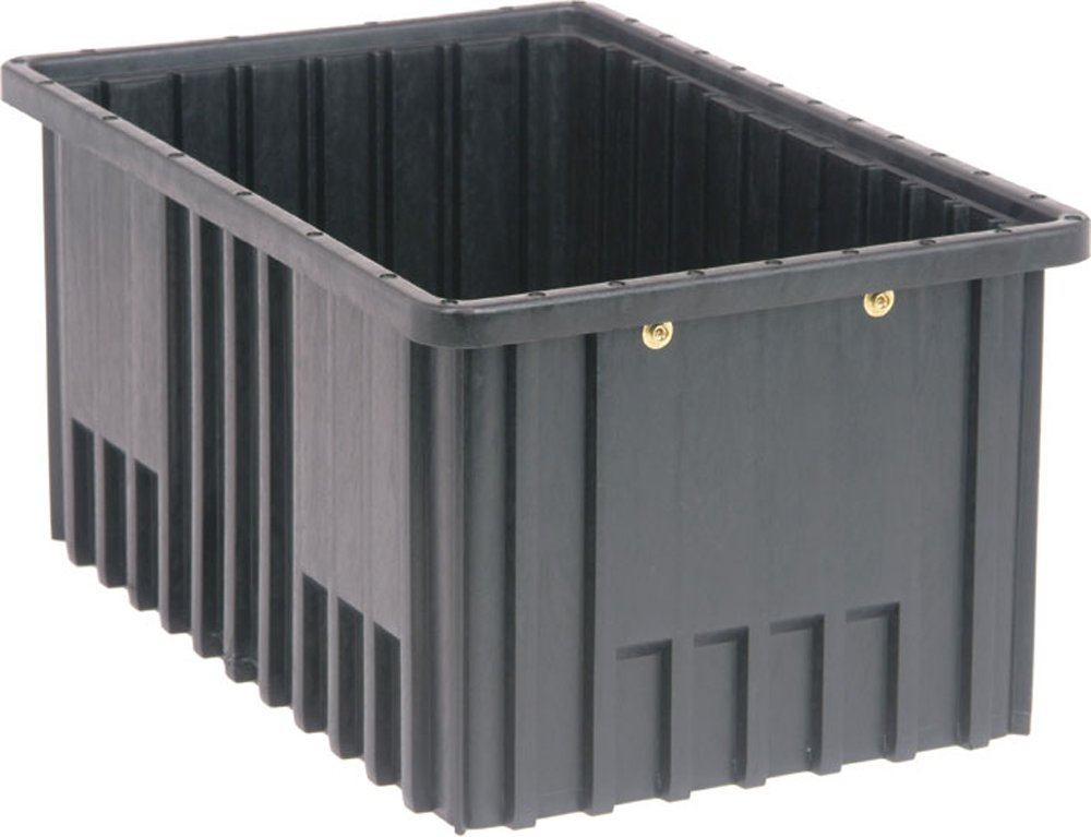 Quantum Storage Systems DG92080CO Dividable Grid Container 16-1/2-Inch Long by 10-7/8-Inch Wide by 8-Inch High, Black Conductive, 8-Pack