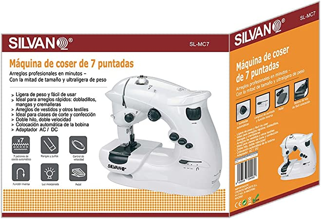 SILVANO Máquina De Coser CR48: Amazon.es