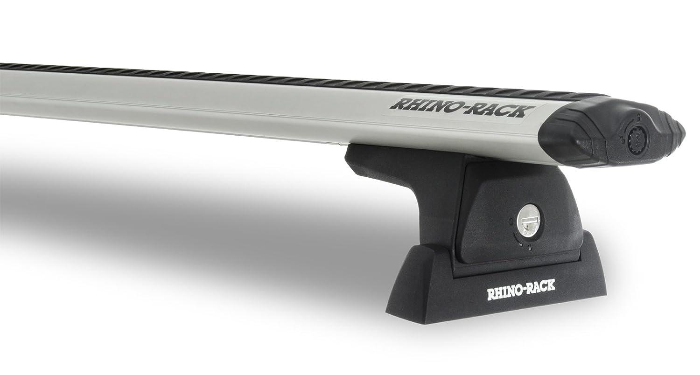 RhinoラックDodge Ram 2500 4dr Pick Up Mega Cab 2010 to 2017 – 渦rlt600排水溝マウントシルバー1バー屋根ラック B0752ZS43H