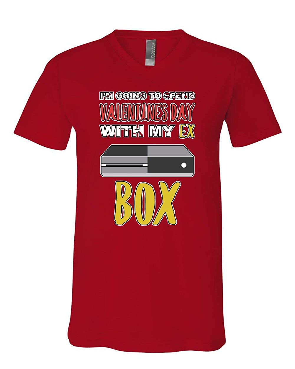 Going to Spend Valentines Day with My Ex Box V-Neck T-Shirt Gamer Love Tee