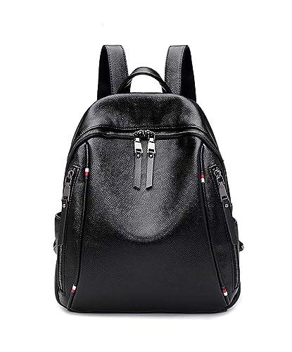 9c1dad6ffc12 Amazon.com  XPATH Women Backpack Purse PU Soft Leather Ladies Rucksack  Casual Shoulder Bag Satchel School Bag Travel for Girls Black UBG43  Shoes