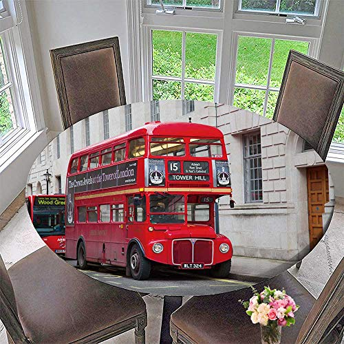 - PINAFORE HOME The Round Table Cloth London February red Double Decker Bus Trafalgar Square in London on Febuary for Birthday Party, Graduation Party 55