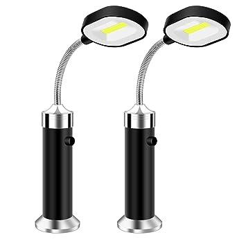 Vegena Luz de Parrilla Magnética, Parrilla LED Luces con Base Magnética y Flexible Cuello 360 ° Rotación para Exteriores, Barbacoa, Camping, Fiesta, ...