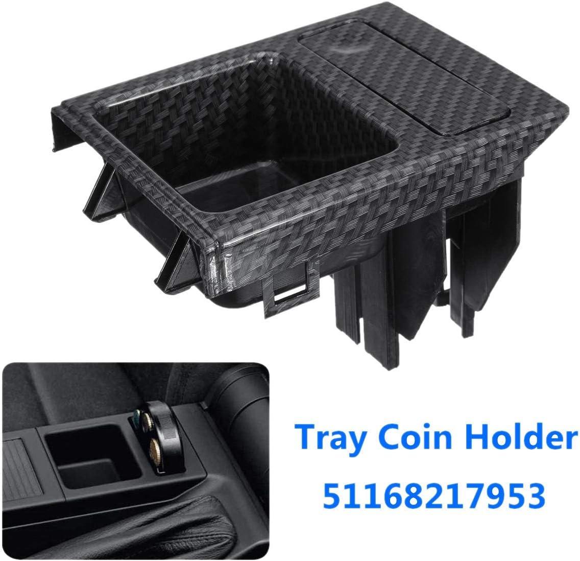Sourcingmap Black Plastic Car Center Console Armrest Drink Holder Storage Box Organizer