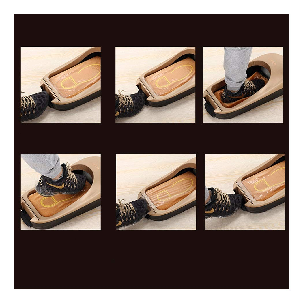 Image #3: Yongyong Golden Piano Paint Simple Wind Automatic Shoe Cover Machine Disposable Home Shoe Machine Office Foot Cover Machine Cover Shoe Machine (Including 600 Shoe Film) 60 28 17cm (Color : Gold) by Yongyong