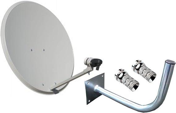 Kit Antena PARABOLICA 60cm Marca Tecatel + Soporte Pared ...