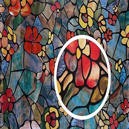 "d-c-fix 346-0431 Self-Adhesive Privacy Glass Window Film, Venetian Garden, 17"" x 78"" Roll,"