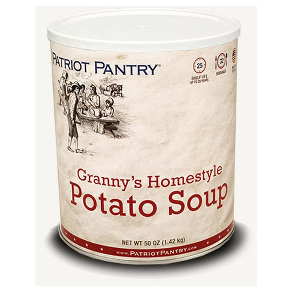 Patriot Pantry Granny's Homestyle Potato Soup (32 servings) #10 Can Bulk Emergency Storage Food Supply, Up to 25-Year Shelf Life by Patriot Pantry