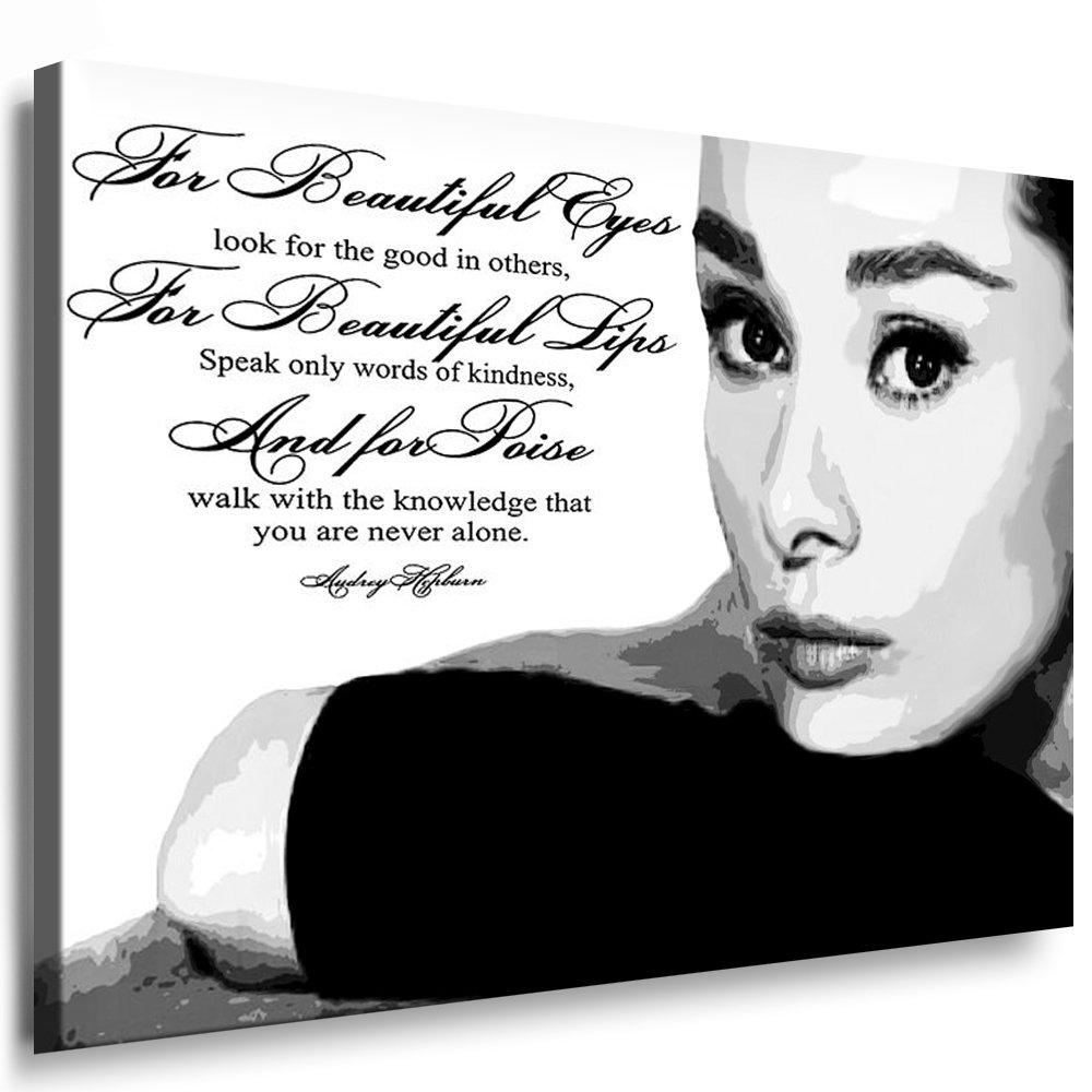 Bilder Kunstdrucke   Boikal   Bild mit Keilrahmen Audrey Hepburn 100x70 cm xxl.87