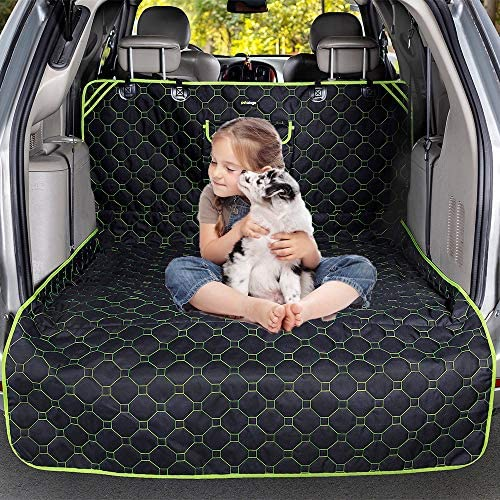 Pet Dog Trunk Cargo Liner – SUV Cargo Liner Cover for Dogs Pet Cargo Cover Dog Seat Cover Mat for SUV Sedans Vans,Extra Bumper Flap Protector