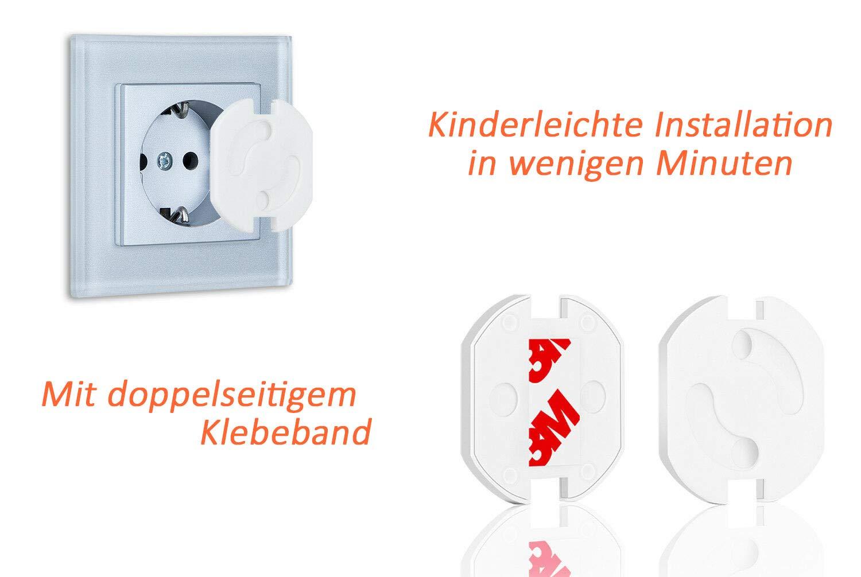Steckdosensicherung f/ür Baby /& Kinder Sicherheit 1 St/ück AGIA TEX Germany Steckdosen-Kindersicherung