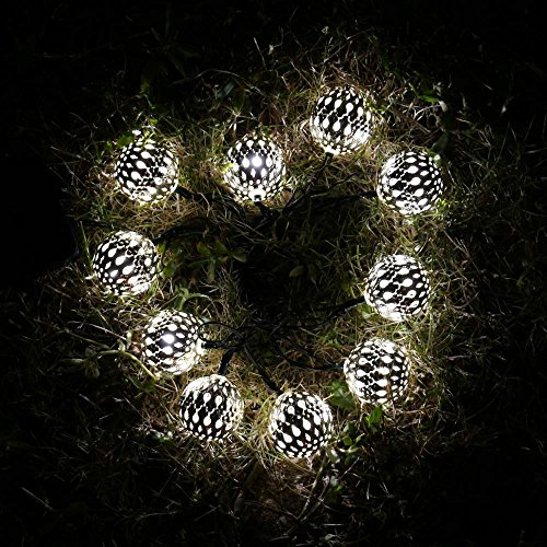 Icicle Solar Moroccan Ball String Lights, 11ft 10 LED - Import It All