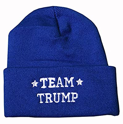 TEAM TRUMP Embroidered BEANIE SKULLIE KNIT HAT Donald Make America Great Again