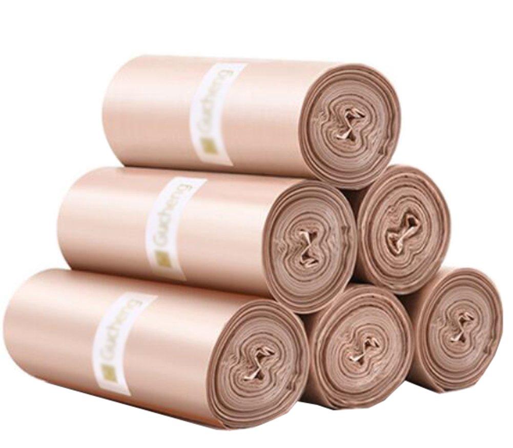 ジョージジミー使い捨てHousehold Garbage Bagsキッチンゴミ袋プラスチックバッグ45 x 50 cm (6ロール/120カウント) Golden B07CNXL9ZP