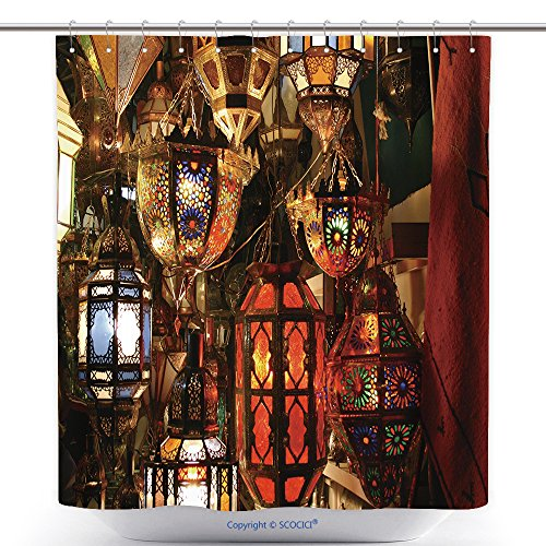 vanfan-Cool Shower Curtains Lamps In A Store In Marrakesh Morocco Polyester Bathroom Shower Curtain Set With Hooks(72 x 108 - Stores Valdosta In
