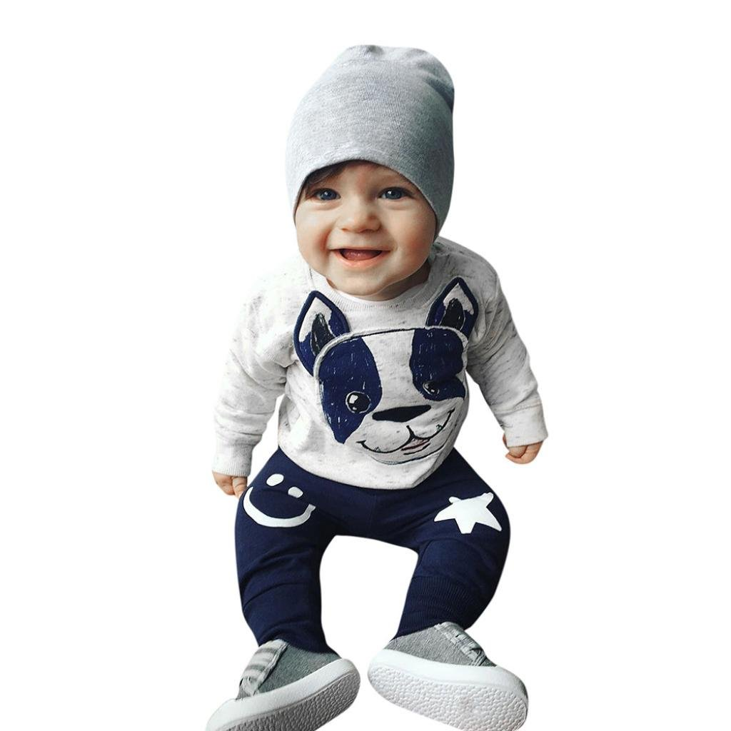 SHOBDW Boys Clothing Sets Long Pants Outfits Set Clothes Newborn Baby Boys Autumn Winter Toddler Hooded Tops