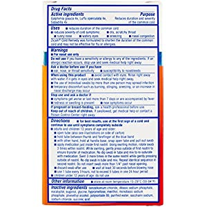Zicam Cold Remedy Nasal Swabs, 20 Count
