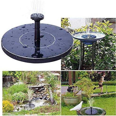 BPHMZ 2020 Nuevo La Nueva Ronda De Fuente Solar Flotante del Baño del Pájaro Fuente De Agua Fontaine For Decoración De Jardín Solar Fonteine Piscina Estanque Cascada: Amazon.es: Jardín