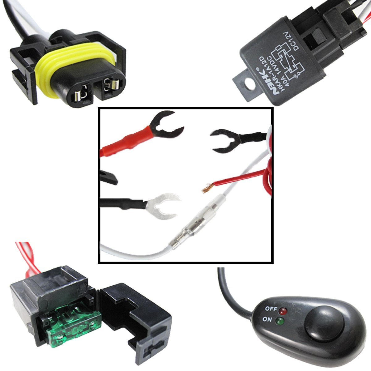 H11 H8 Relay Harness Wire Kit Led On Off Switch For Hella Wiring Toyota 4runner Aftermarket Fog Lights Driving Hid Conversion Work Lamp