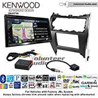 Volunteer Audio Kenwood DNX574S Double Din Radio Install Kit with GPS Navigation Apple CarPlay Android Auto Fits 2012-2013 Toyota Camry with Amplified System