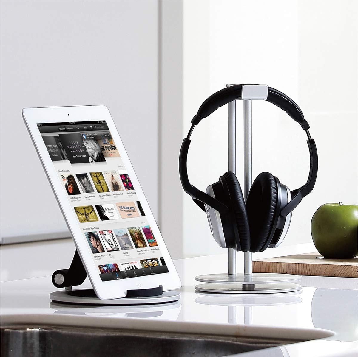 Black HS-100BK Just Mobile HeadStand High-Design Aluminum Headphone Hanger
