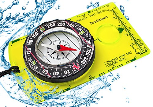 Orienteering Compass - Hiking Backpacking Compass - Advanced Scout Compass for Camping and Navigation - Boy Scout Compass for Kids - Professional Field Compass for Map Reading - Best Survival (Camping Navigation Compass)