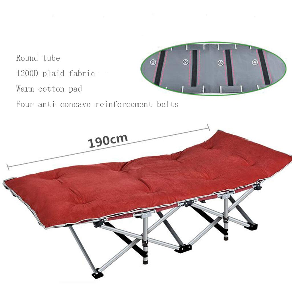 A15 Reinforced Folding Bed Office Folding Bed Single Bed Lunchtime Recliner Simple Accompanying Camping Bed Upgrade Without Noise (color   A11)