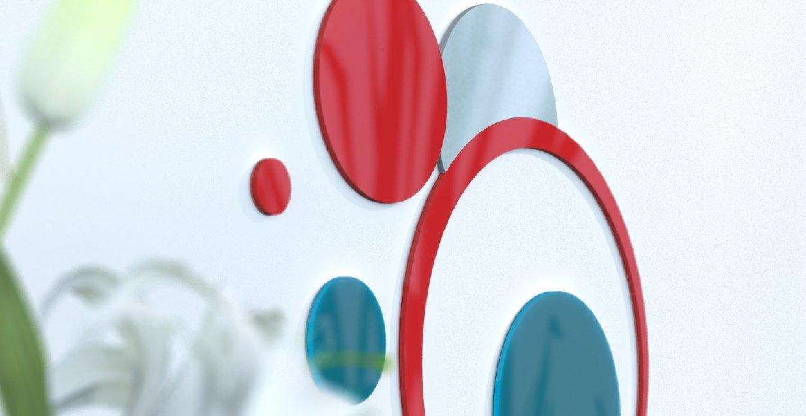Deko Wand-Wohnzimmer originelle Blaue Ente und grau silber rot   schwarz   grau foncÃeacute; rot   Blau Canard   grau Silber