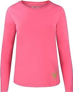 Biyoga Camiseta de Manga Larga de algodón orgánico para Practicar ...