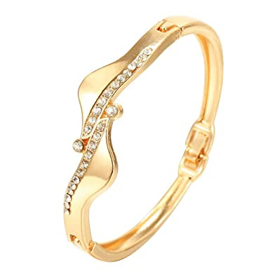 amazon com etuoji women s bangle crystal rhinestone cuff bracelet