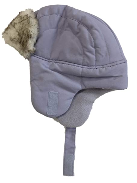 fd50d68a89e Image Unavailable. Image not available for. Color  ABC Toddler Girls Light  Purple Trapper Hat with Faux Fur Trim Aviator Cap