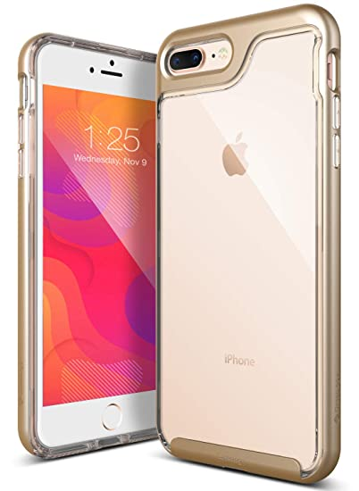 new product b5f1c ec26b iPhone 7 Plus Case, Caseology [Skyfall Series] Transparent Clear Slim  Scratch Resistant Cover Drop Protection for Apple iPhone 7 Plus (2016) -  Gold