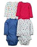 Carter's Baby Girls' Long Sleeve 4-Pk. Floral