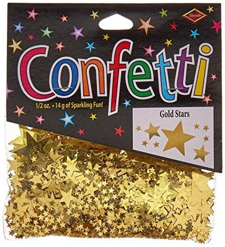 0.5 Ounce Confetti Stars - Beistle CN071 Gold Stars Confetti, 1/2-Ounce