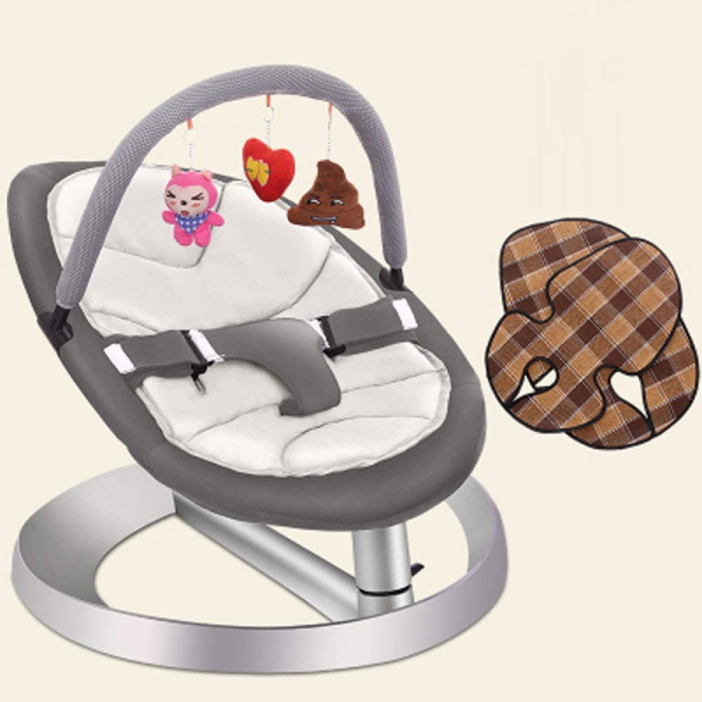 0-3 Jahre Alt Baby Federwiege Babywippe Flach Falten Leicht Musical Bouncer Zu Entfernen Babyschaukel Bouncer Stuhl Und Schaukelstuhl ,White F/ür Neugeborene Babys