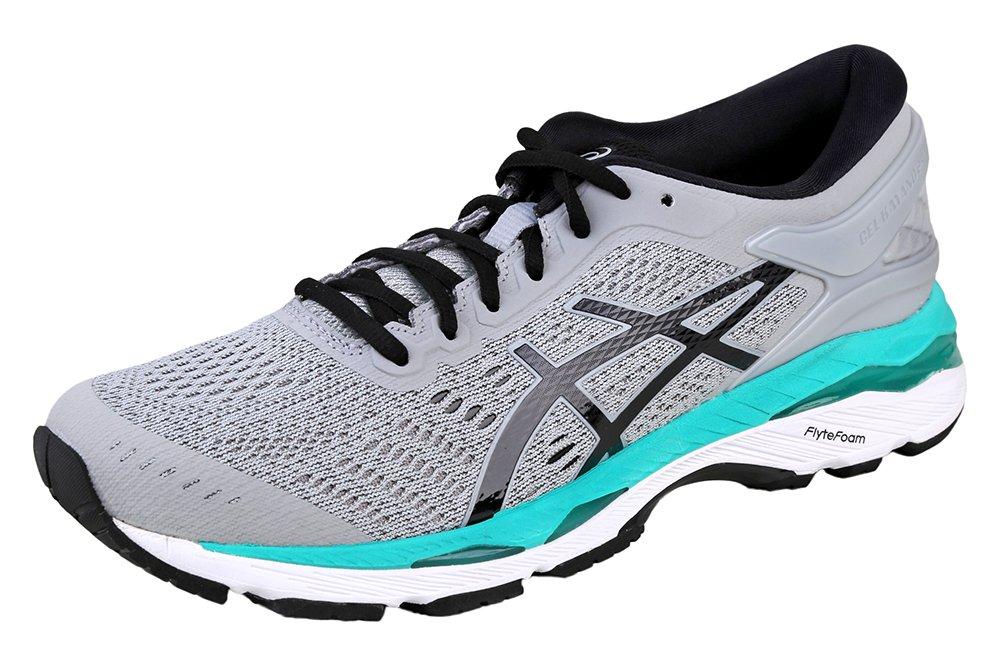 ASICS Women's Gel-Kayano 24 Running Shoe, Mid Grey/Black/Atlantis, 9 Medium US