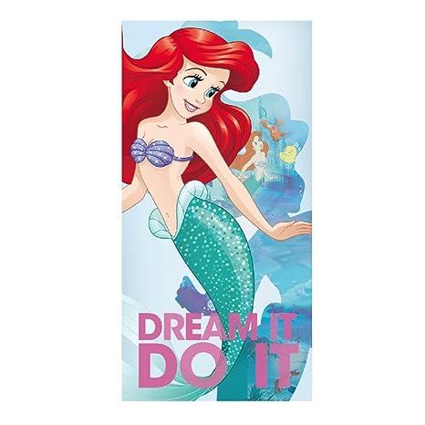 Artesanía Cerdá 2200002168 Toalla Playa algodón, diseño Princesas Disney