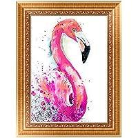 EXCEART 5D Diamante Pintura Punto de Cruz Flamingo