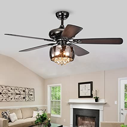 Classical Led Ceiling Fan With Light For Living Room Bedroom Dining Room Lighting And Fan Wind Three Leaves Led Fans Light Reliable Performance Lights & Lighting
