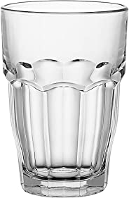 Bormioli Rocco Rock Bar Stackable Beverage Glasses – Set Of 6 Dishwasher Safe Drinking Glasses For Soda, Juice, Milk, Coke, B