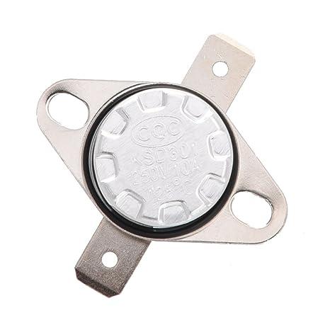 SODIAL(R) KSD301 AC 250V 10A 125 Celsius Termostato Interruptor de control de temperatura