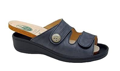 buy popular d946a 3a08d Franken Schuhe Damen Pantolette 30204 blau, Damen Größen:37 ...