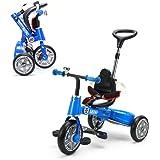 MINI 舵取り三輪車【ブルー】 スマートバー付き 折り畳み(折りたたみ)三輪車 10インチ 正規ライセンス