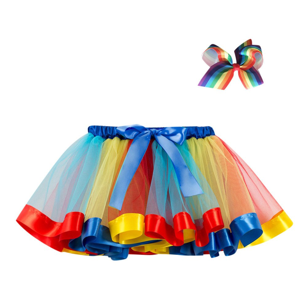 SHITOU Girl Tutu Party Dance Ballet Toddler Baby Costume Skirt+Bow Hairpin 03