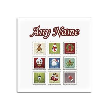 Amazon.de: Personalisiertes Geschenk - Set von 4 x Christmas Stempel ...
