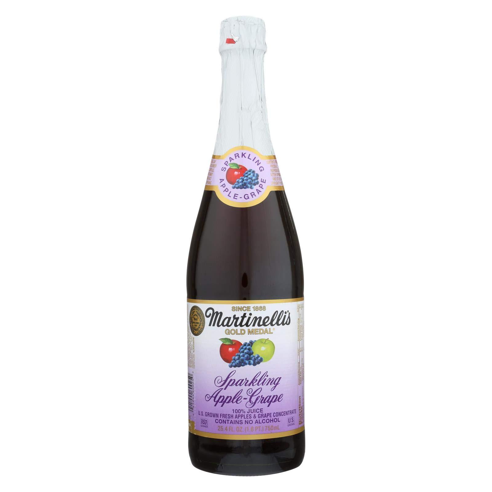 Martinelli Sparkling Apple Grape Juice - 25.4 ounce - 12 per case. by Martinelli's
