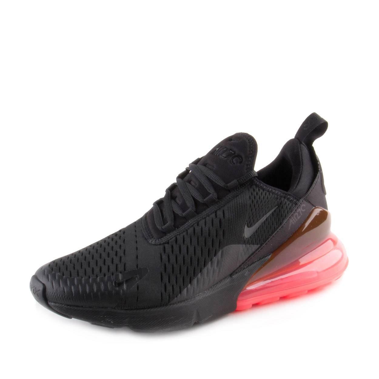 9030e32a7bb08 Galleon - Nike Mens Air Max 270 Black/Hot-Punch Mesh Size 10.5
