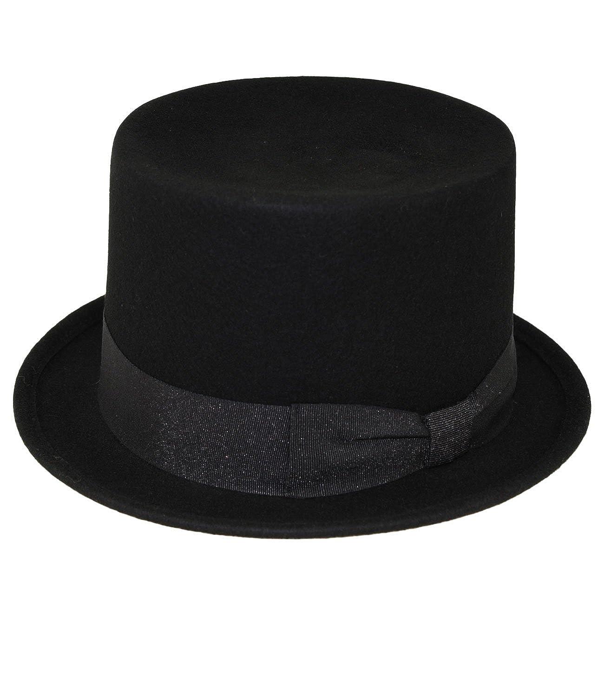 Fiebig Cilindro Da Uomo Cappello Equitazione Sera Magico Di Moda Spazzacamino Cocchiere Matrimonio Per Uomini (FI-15071-W17-HE0) incl. EveryHead-Hutfibel