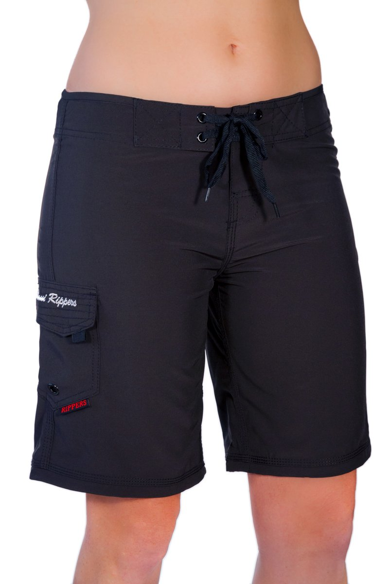 "Maui Rippers Women's 4-Way Stretch 9"" Swim Shorts Boardshorts"