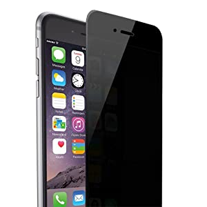 Skylarking iPhone 6plus 6S Plus Privacy Anti Spy Anti-Glare Ballistic Tempered Glass HD 2.5D Curve Edge Full Screen Protector 9H Hardness Anti-Scratch, Anti-Fingerprint, (iPhone 6plus 6s Plus)